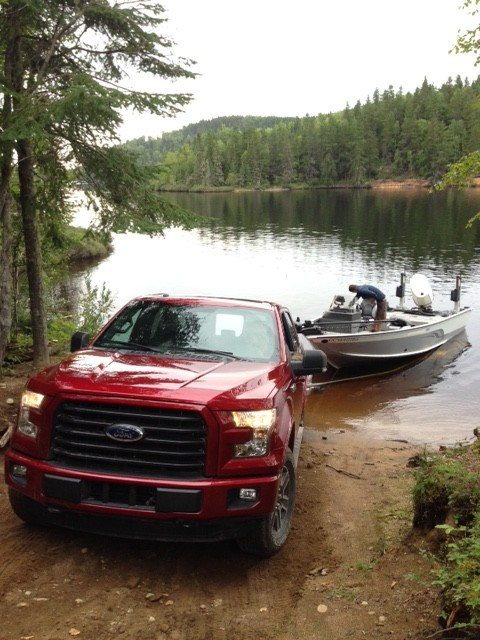 The Ford F-150 launching Cyril's boat.