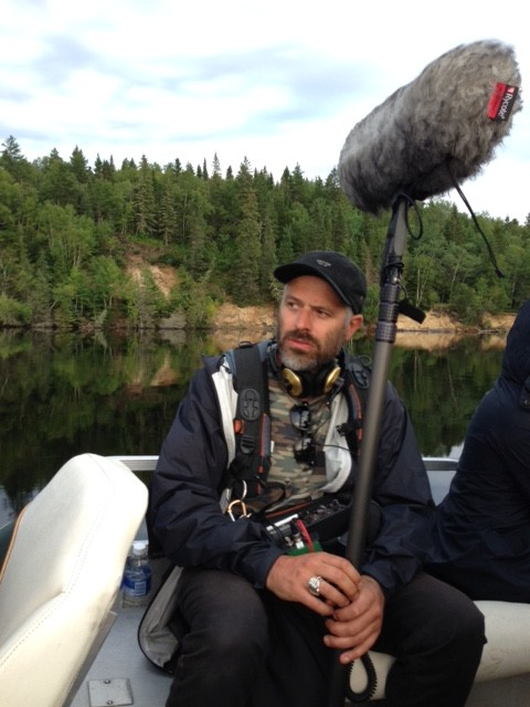 Jeff Scheven  contemplating  capturing audio out on the water.