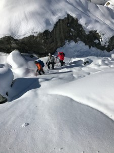 The glacier hike path